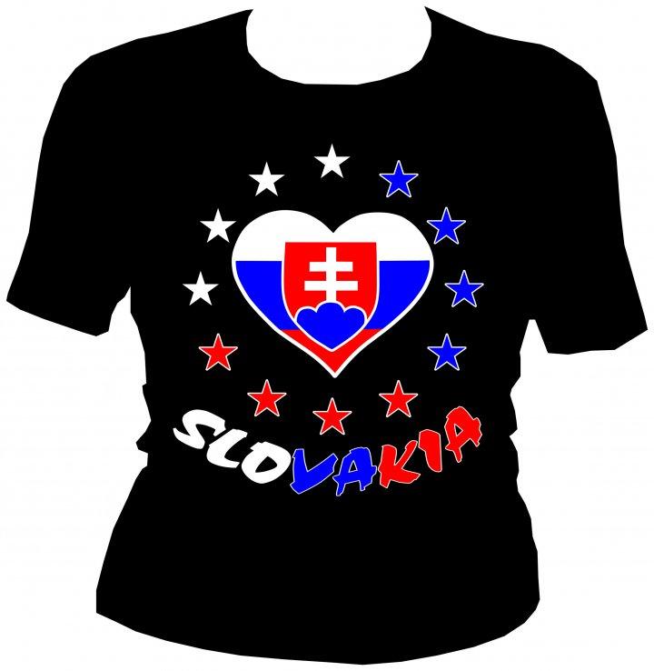 dfad5ac49f6a Dámske tričko - Slovakia srdce