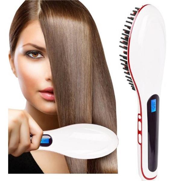 Ionizačná kefa na vlasy s LCD displejom na žehlenie vlasov ... a757820066b