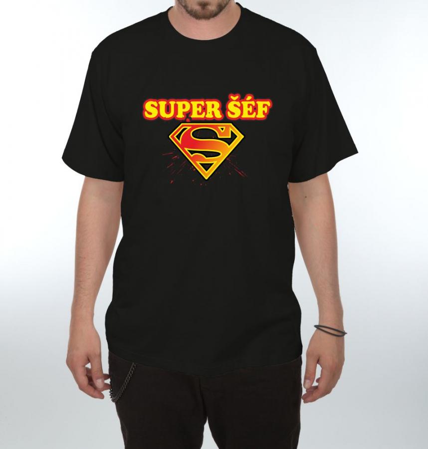 Pánske tričko - Super šéf bc307e1c9ee