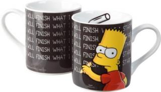 Simpsons hrnček Bart I will finish...