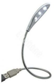 USB LED lampička - 3 LED