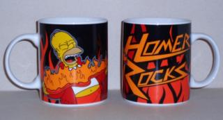 Simpsons hrnček Homer Rocks