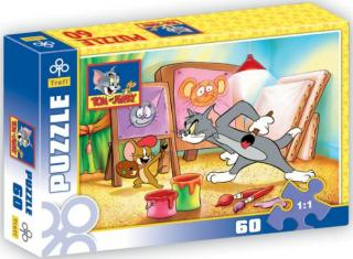 Puzzle 60 ks - Tom a Jerry maľujú obrazy