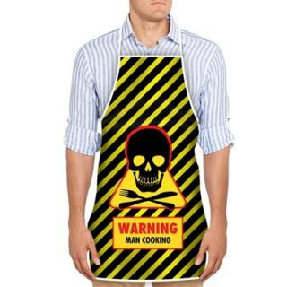 Zástera Warning Man Cooking