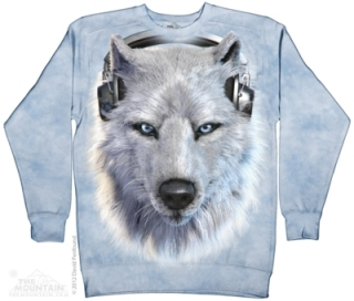 3D mikina The Mountain - White Wolf DJ veľ.XL