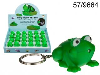 Kľúčenka s baterkou a zvukom - žabka empty 5958a52e18c